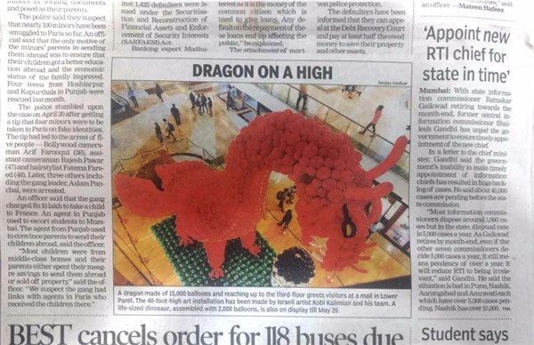 Dragon on high